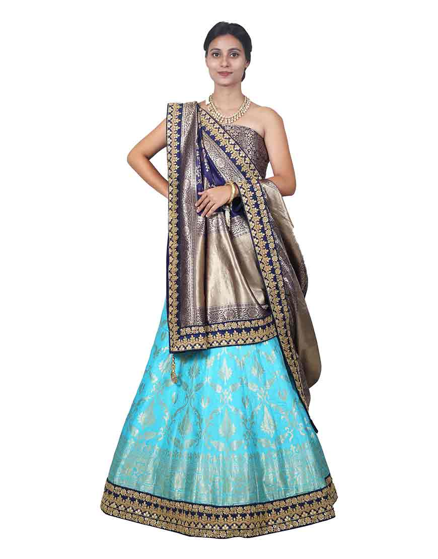 The Traditional blues lehenga