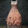 Peach flare gown