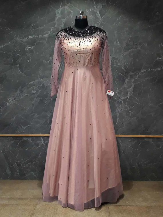 Lovender net Gown