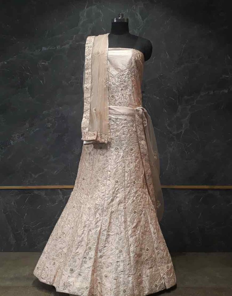 Lehenga- Light Peach