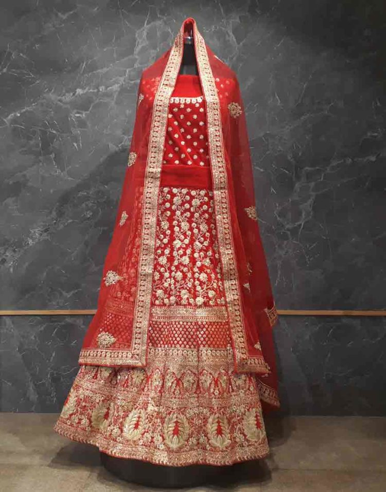 Red Bridal lehenga