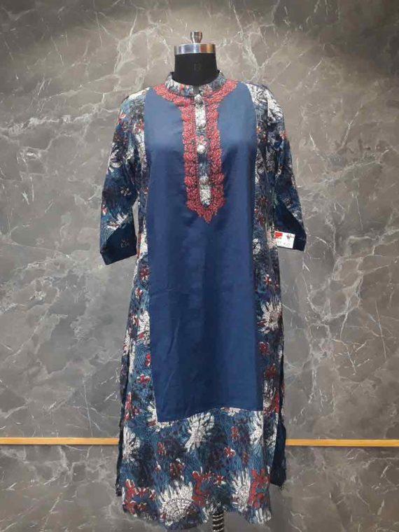 Dark blue kurti- Panache