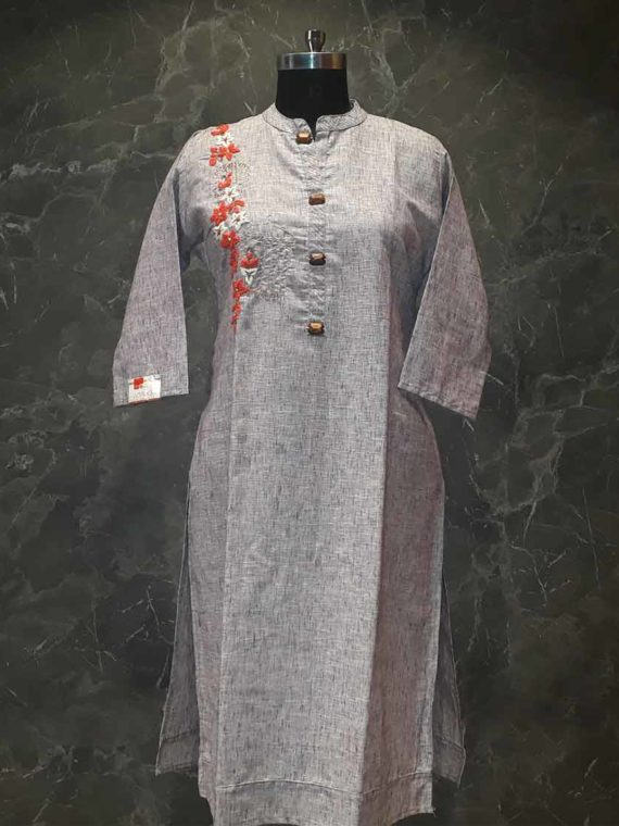 Light gray shade kurti- Panache